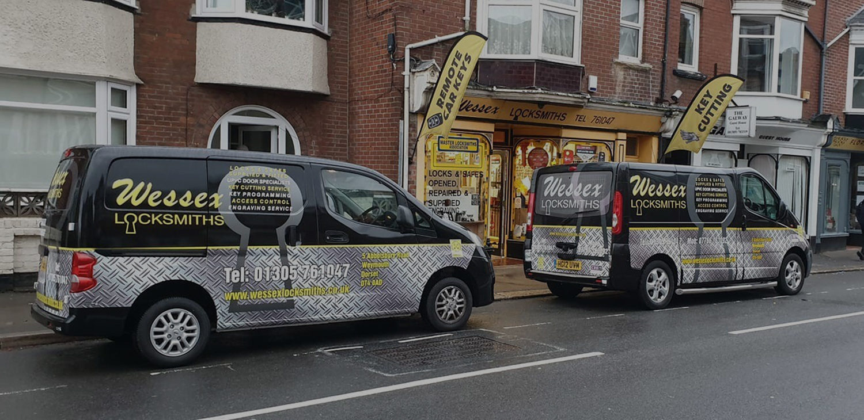 Wessex Locksmiths shop front image